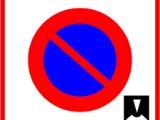 Panneau de zone de stationnement à durée limitée