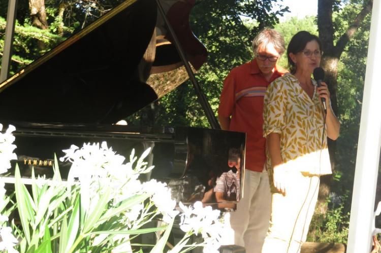 Nathalie David, Esprit des lieux, libraire et éditrice mettant à disposition le Jardin classé
