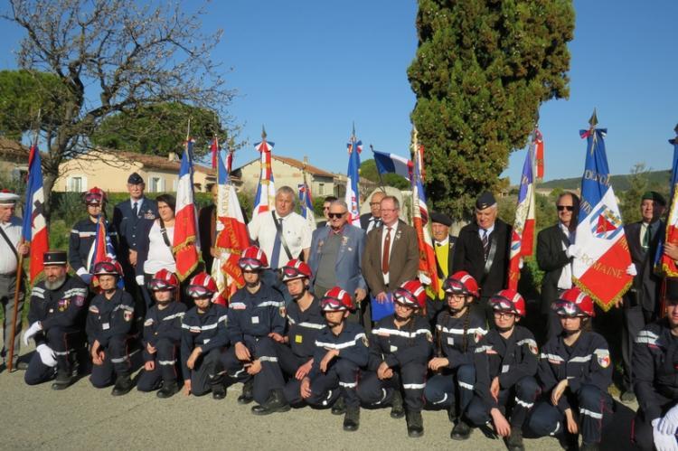 Les jeunes Sapeurs-Pompiers à la commémoration de la Siante-Croix en 2019