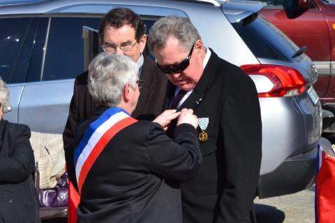 Gérard guier avait été décoré le 20 mars 2016