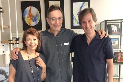 Stéphanie Henao, Philippe Turrel et Cesar Henao au Nartex